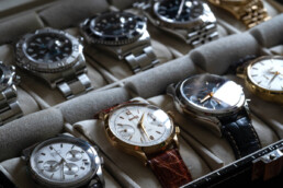 Luxury watches collection including Zenith El Primero, Eberhard Extra Fort, Longines and different models of Rolex